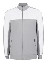 Topman Mid Grey Grey And White Track Top