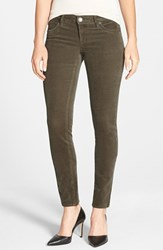 Petite Women's Kut From The Kloth 'Diana' Stretch Corduroy Skinny Pants Dark Olive