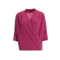 Wtr Pink Batwing Sleeve Silk Blouse Pink Purple