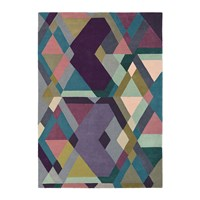 Ted Baker Light Purple Mosaic Rug Multi