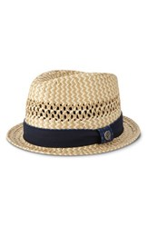 Men's Ben Sherman Vented Straw Trilby