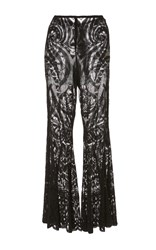 Anna Sui Lace Bell Bottom Pant Black