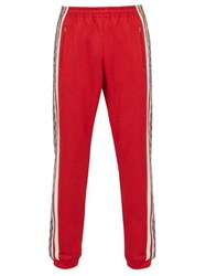 Gucci Gg Print Technical Track Pants Red Multi