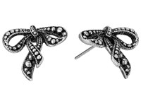 Marc Jacobs Small New Bow Studs Earrings Antique Silver Earring