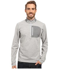 Mountain Hardwear Cragger 1 2 Zip Top Heather Steam Men's Long Sleeve Pullover Gray
