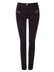 Wallis Black Double Zip Skinny Trouser