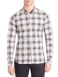 Tomas Maier Twisted Light Tartan Shirt Multicolor