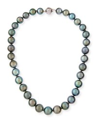 Belpearl Tahitian Black Pearl Necklace 18