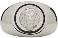 Versus Silver Lion Head Ring