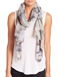 Tilo Glacier Wool And Silk Scarf Grey Marble