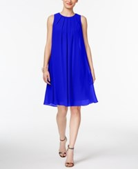 Inc International Concepts Pleated Trapeze Dress Only At Macy's Goddess Blue