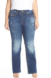 Plus Size Women's Melissa Mccarthy Seven7 Embellished Pocket Stretch Bootcut Jeans