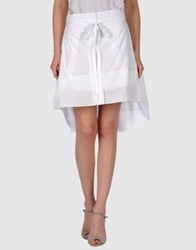 Edun Knee Length Skirts White