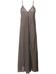 Lost And Found Ria Dunn Long Flared Dress Grey