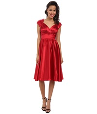 Stop Staring Doris Swing Dress Red Sating Women's Dress