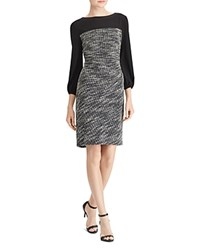 Ralph Lauren Two Tone Dress Black White