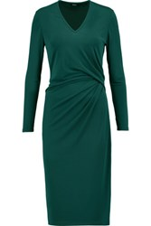 Raoul Gathered Stretch Satin Dress Green