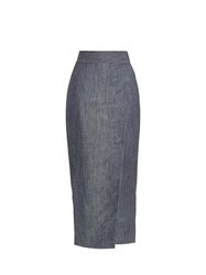 Adam By Adam Lippes Denim Wrap Midi Skirt