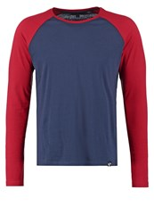 Your Turn Long Sleeved Top Dark Blue Red