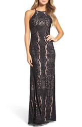 Morgan And Co. Women's Lace Halter Gown