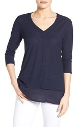 Vince Camuto Women's Two By Layered Look Top