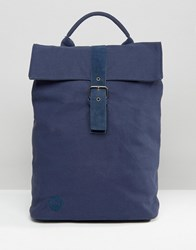 Mi Pac Canvas Day Pack Backpack Navy Navy