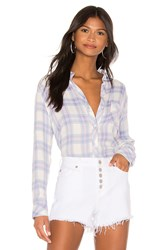 Rails Hunter Button Down Top Lavender