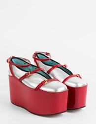 Gucci Ballet Flat With Removable Platform Arge Ner Red