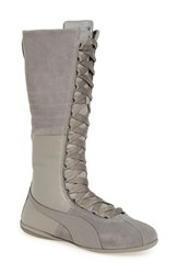 Puma Women's Eskiva Mid Calf Sneaker Boot Grey