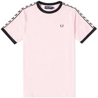 Fred Perry 'S Taped Retro Ringer Tee Pink