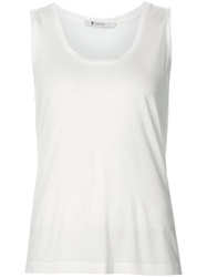 T By Alexander Wang Scoop Neck Tank Top White