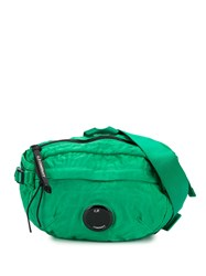 C.P. Company Logo Plaque Belt Bag Green