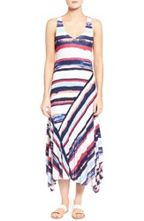 Women's Splendid 'Mirage' Stripe Handkerchief Hem Maxi Dress