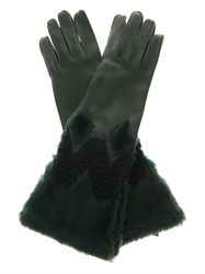 Burberry Zoe Leather And Shearling Gloves