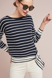 Bishop Young Audrey Striped Top Navy