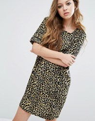 Noisy May I Tunic Leopard Print Dress Leopard Multi