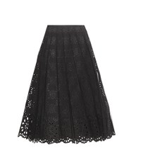 Marc Jacobs Cotton Broderie Anglaise Skirt Black