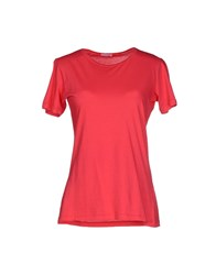Rossopuro Topwear T Shirts Women Coral