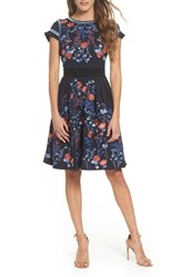 Foxiedox Senna Embroidered Fit And Flare Dress