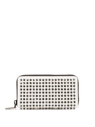 Christian Louboutin Panettone Spike Embellished Leather Wallet White
