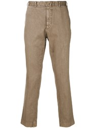 Dell'oglio Tailored Fitted Trousers Brown