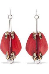 Marni Silver And Gold Tone Acetate And Crystal Earrings Silver