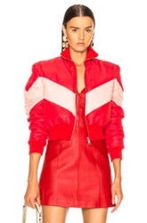 Maggie Marilyn Conquer Your Fears Puffer Jacket In Pink Red Pink Red