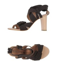 Acrobats Of God Sandals Dark Brown