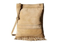 Toms Oatmeal Soft Suede Fringe Crossbody Natural Cross Body Handbags Beige