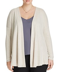 B Collection By Bobeau Curvy Relaxed Cardigan Oatmeal