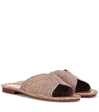 Carrie Forbes Raffia Sandals Neutrals