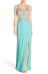 Women's Sean Collection Embellished Sleeveless Gown