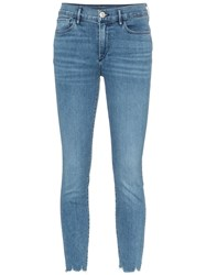 3X1 Mid Rise Cropped Skinny Jeans Blue