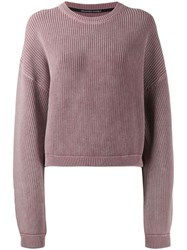 Alexander Wang T By Ribbed Oversize Jumper Pink